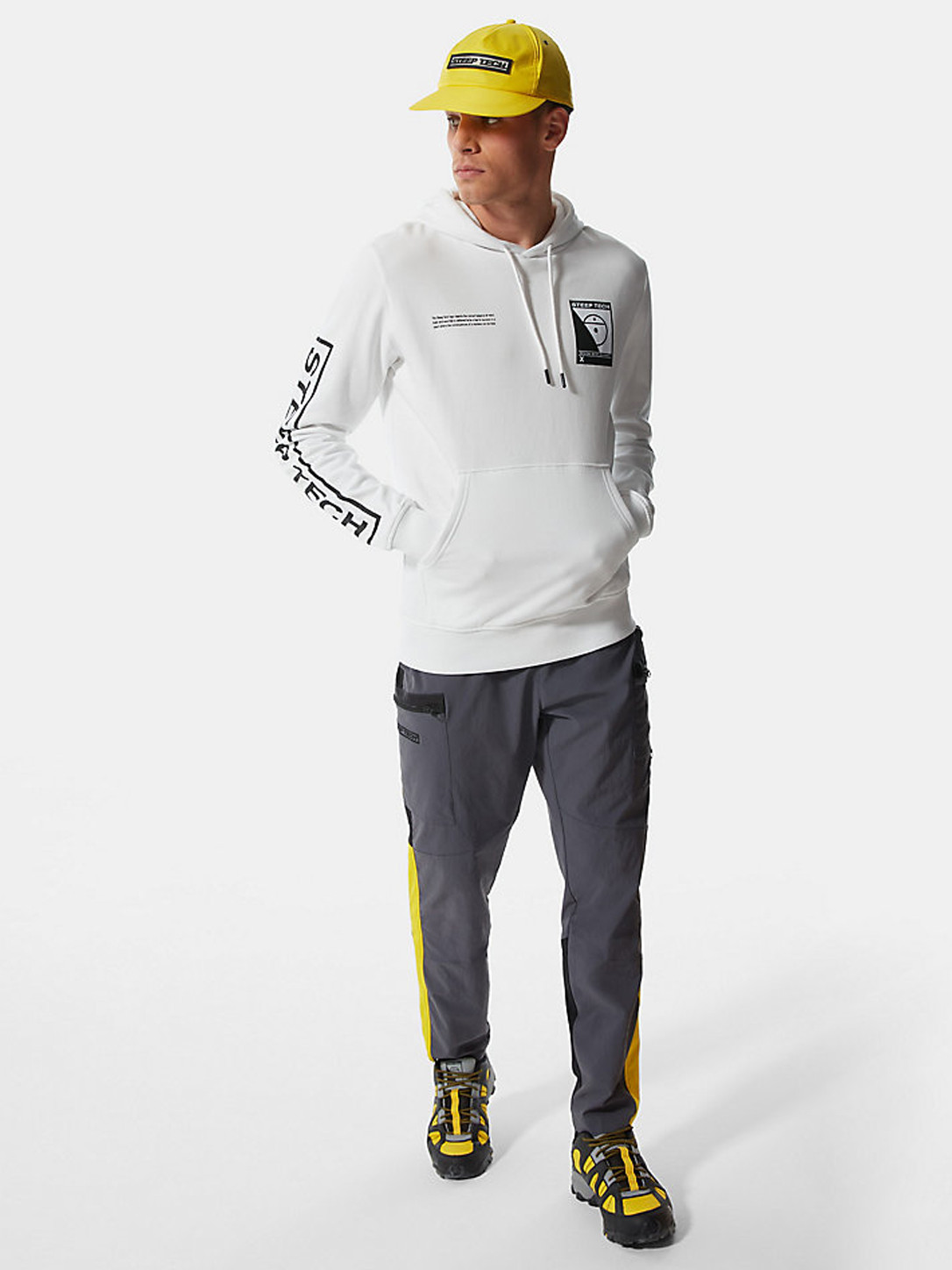 The North Face M Steep Tech Logo Hoodie White